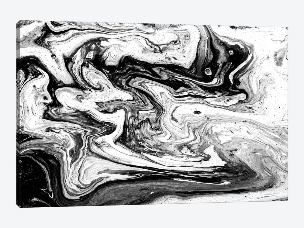 Black And White Art Textured Background I by Tatiana Amrein 1-piece Canvas Print