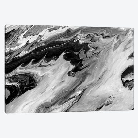 Black And White Art Textured Background II Canvas Print #AMR126} by Tatiana Amrein Canvas Print