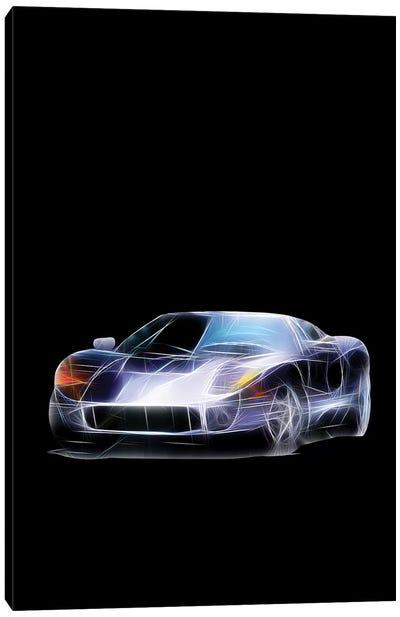 Neon Sport Car Canvas Art Print