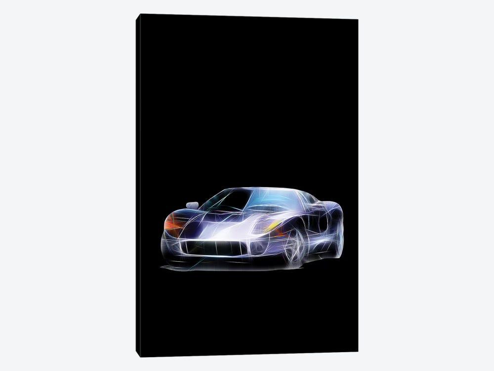 Neon Sport Car by Tatiana Amrein 1-piece Canvas Print