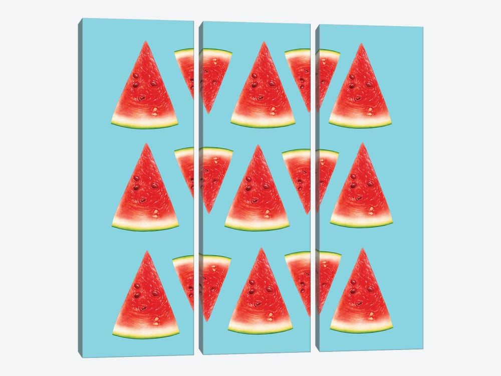 Melon Slices I by Tatiana Amrein 3-piece Canvas Artwork