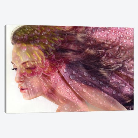 Daisy Lady Canvas Print #AMR16} by Tatiana Amrein Canvas Art