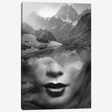 Mountain Lady 3-Piece Canvas #AMR32} by Tatiana Amrein Canvas Print
