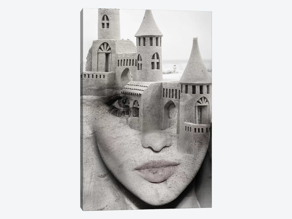 Sand Castle by Tatiana Amrein 1-piece Canvas Print