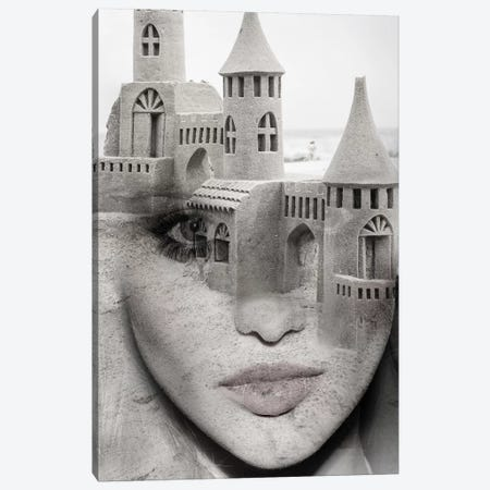 Sand Castle Canvas Print #AMR35} by Tatiana Amrein Canvas Wall Art
