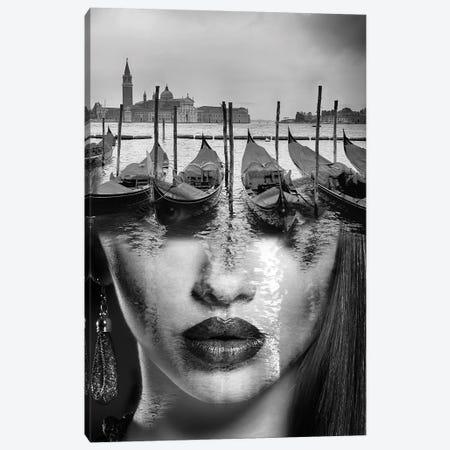 Venetian Mask Canvas Print #AMR42} by Tatiana Amrein Canvas Art