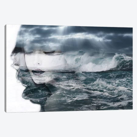 Sea 3-Piece Canvas #AMR53} by Tatiana Amrein Canvas Print