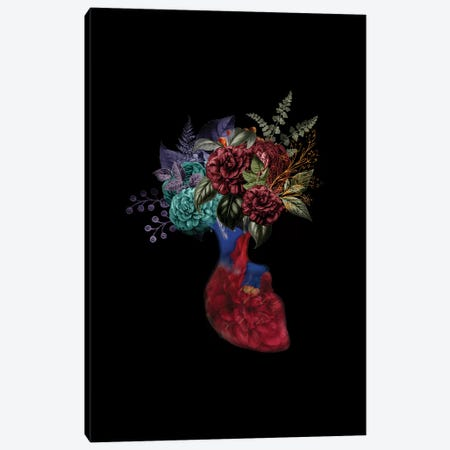 Heart Flower Canvas Print #AMR67} by Tatiana Amrein Canvas Print