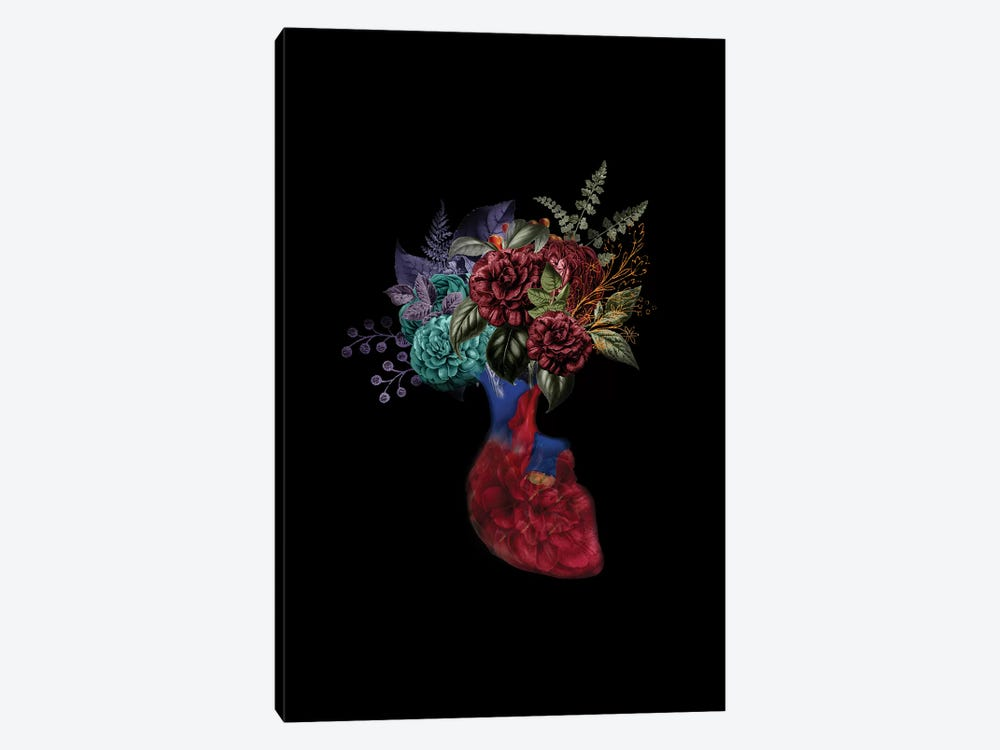 Heart Flower by Tatiana Amrein 1-piece Canvas Wall Art