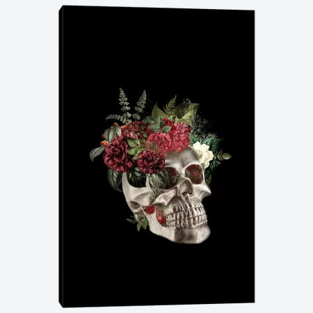 Skull Flowers Canvas Print #AMR72} by Tatiana Amrein Art Print