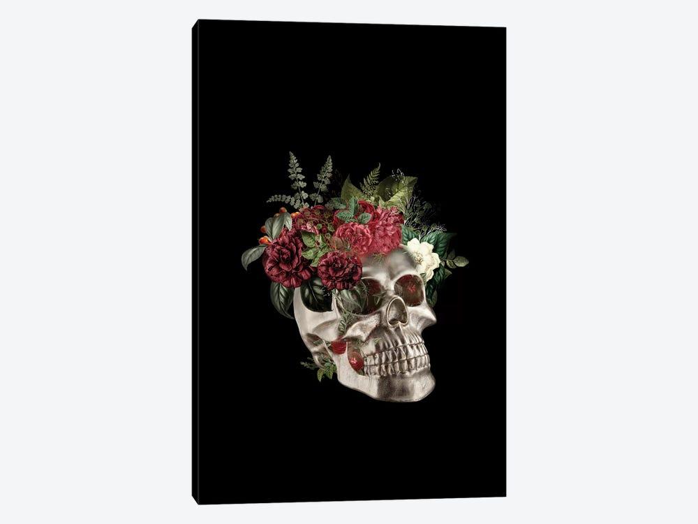 Skull Flowers by Tatiana Amrein 1-piece Canvas Artwork
