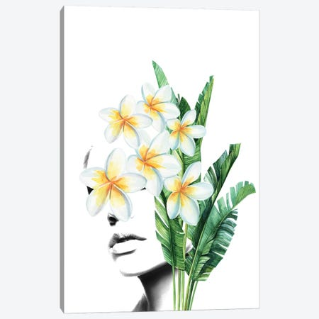 Frangipani Woman Canvas Print #AMR82} by Tatiana Amrein Canvas Art