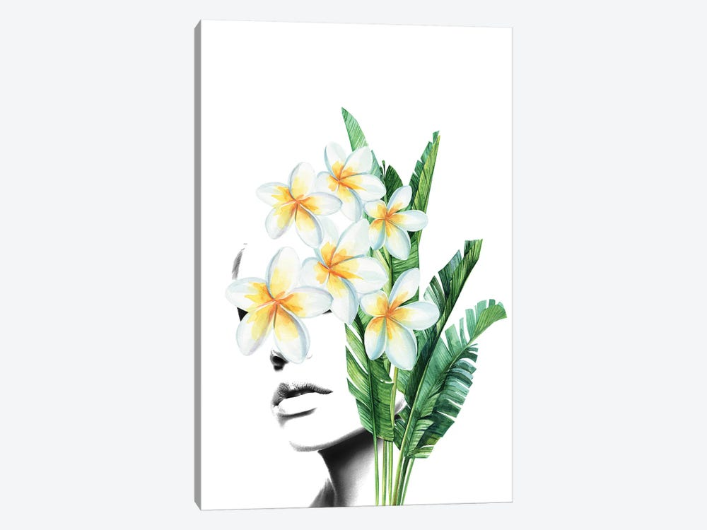 Frangipani Woman by Tatiana Amrein 1-piece Canvas Print