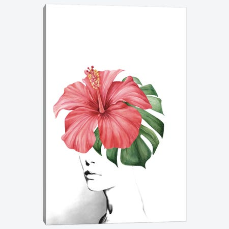 Hibiscus Canvas Print #AMR84} by Tatiana Amrein Canvas Art Print