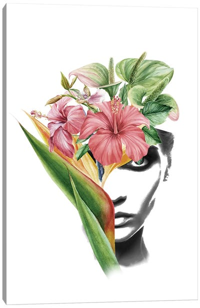 Hibiscus Lady Canvas Art Print