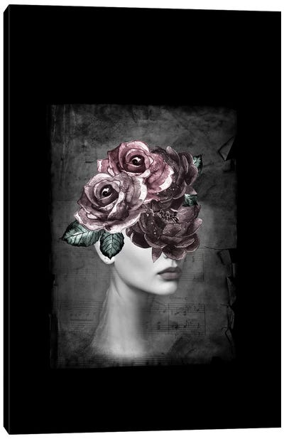 Flower Woman Canvas Art Print