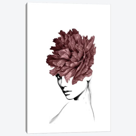 Lady Flower I 3-Piece Canvas #AMR97} by Tatiana Amrein Canvas Art