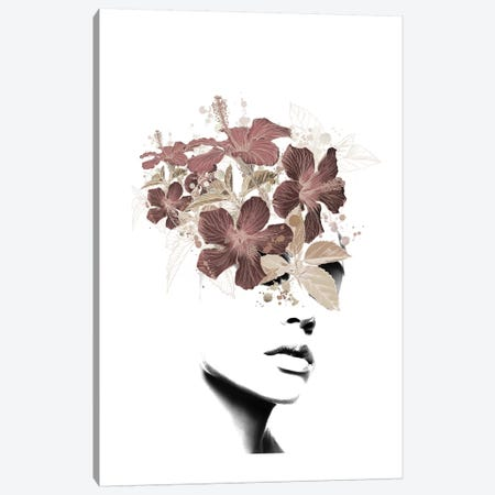 Lady Flower II Canvas Print #AMR98} by Tatiana Amrein Canvas Print