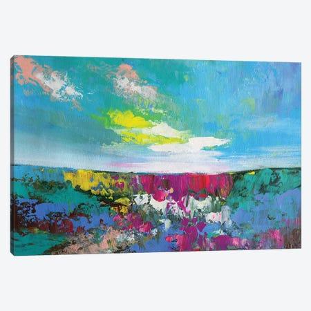 Turquoise Dreams Canvas Print #AMT18} by Amita Dand Art Print