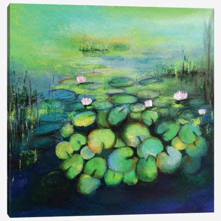 Abstract Pond I Canvas Print #AMT1} by Amita Dand Canvas Artwork