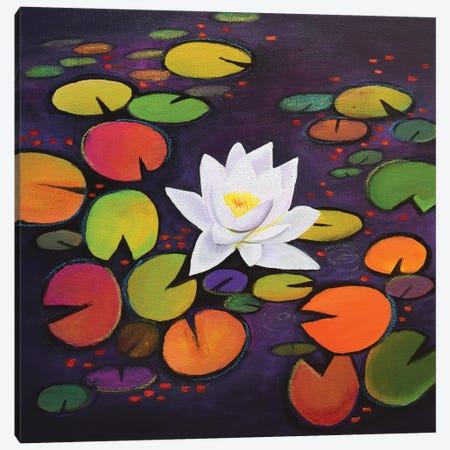 White Waterliy Canvas Print #AMT25} by Amita Dand Canvas Print