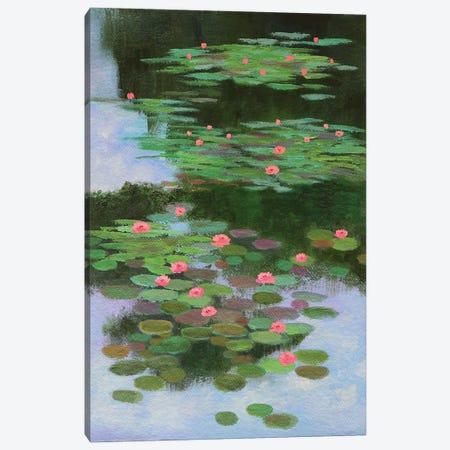 Monet's Water Lilies Canvas Print #AMT27} by Amita Dand Art Print