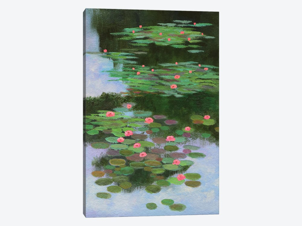 Monet's Water Lilies by Amita Dand 1-piece Canvas Wall Art