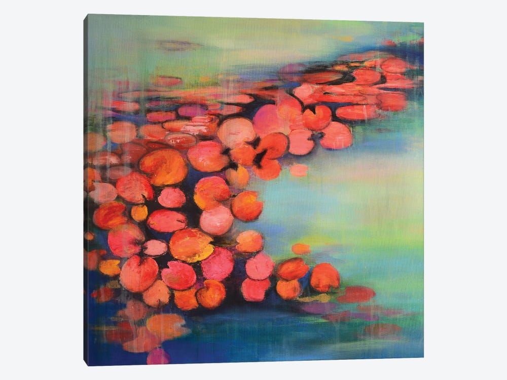Abstract Pond II by Amita Dand 1-piece Canvas Art