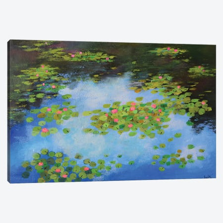Monets Water Lilies I Canvas Print #AMT41} by Amita Dand Canvas Art