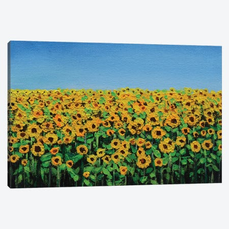 Sunflowers On A Sunny Day Canvas Print #AMT44} by Amita Dand Canvas Art Print