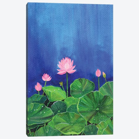 Lotus Bloom Canvas Print #AMT48} by Amita Dand Canvas Wall Art