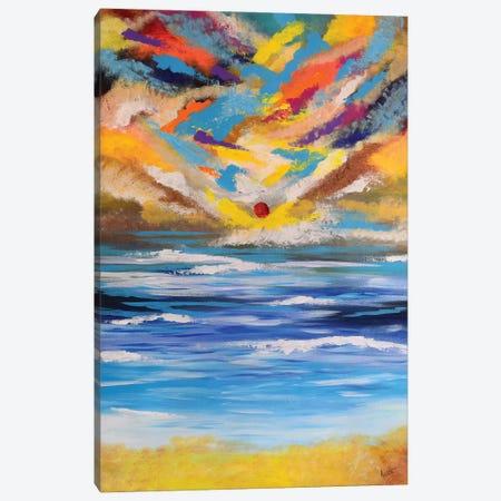Beach Sunset Canvas Print #AMT4} by Amita Dand Canvas Print