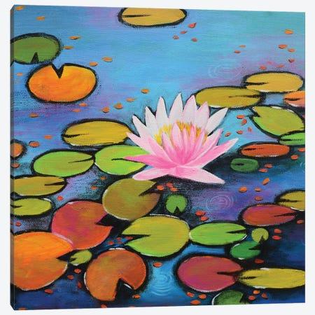Pink Lily Canvas Print #AMT53} by Amita Dand Canvas Art Print