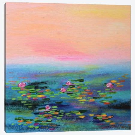 Impressionism Water Lilies Canvas Print #AMT54} by Amita Dand Canvas Art