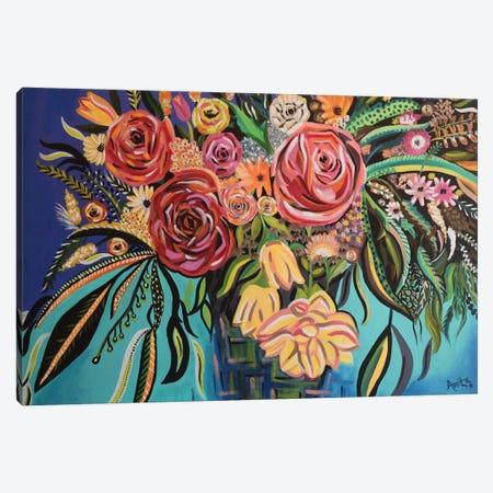 Flower Burst Canvas Print #AMT5} by Amita Dand Canvas Art Print