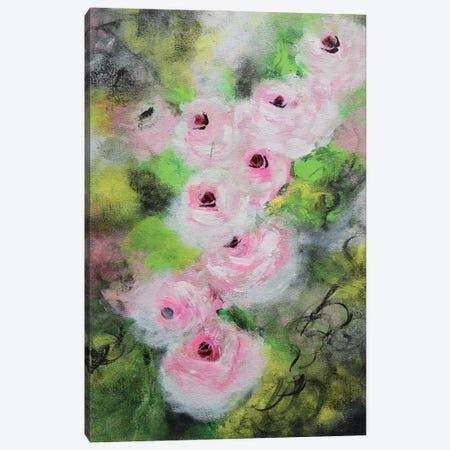 Vintage Pink Roses Canvas Print #AMT63} by Amita Dand Canvas Wall Art