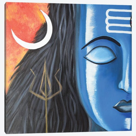 Lord Shiva Canvas Print #AMT64} by Amita Dand Art Print