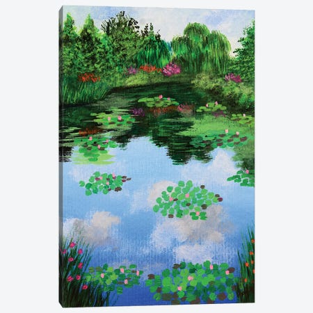 Monets Garden Canvas Print #AMT7} by Amita Dand Canvas Print