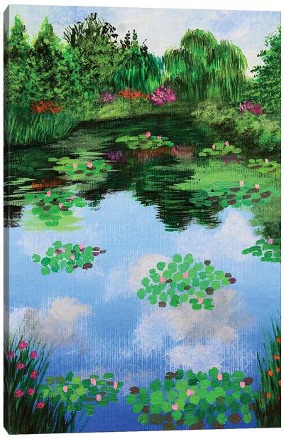 Monets Garden Canvas Art Print