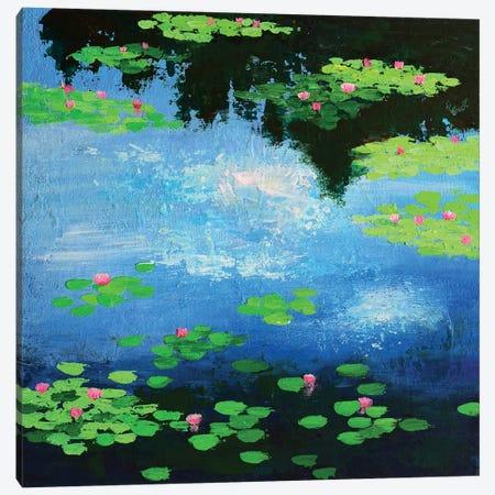 Monets Water Lilies Canvas Print #AMT8} by Amita Dand Canvas Wall Art
