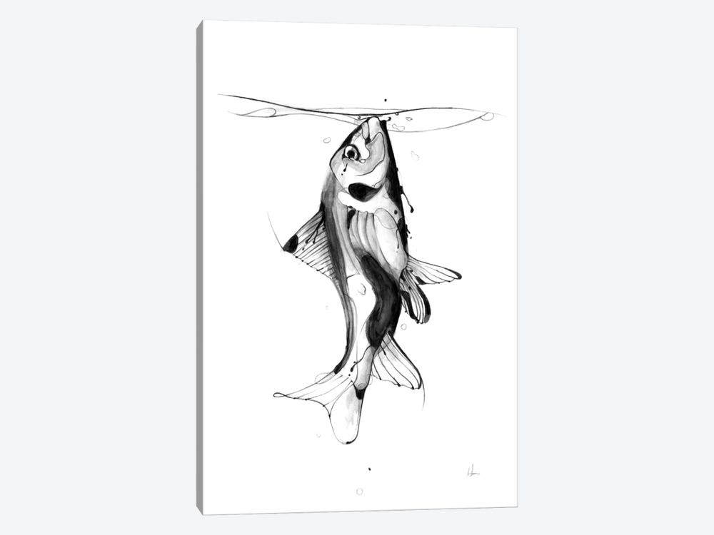 Fish Fuel by Alexis Marcou 1-piece Canvas Artwork