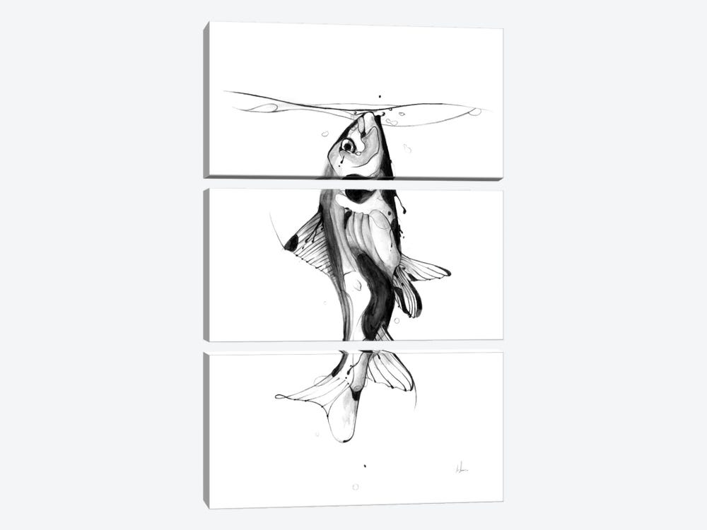 Fish Fuel by Alexis Marcou 3-piece Canvas Artwork