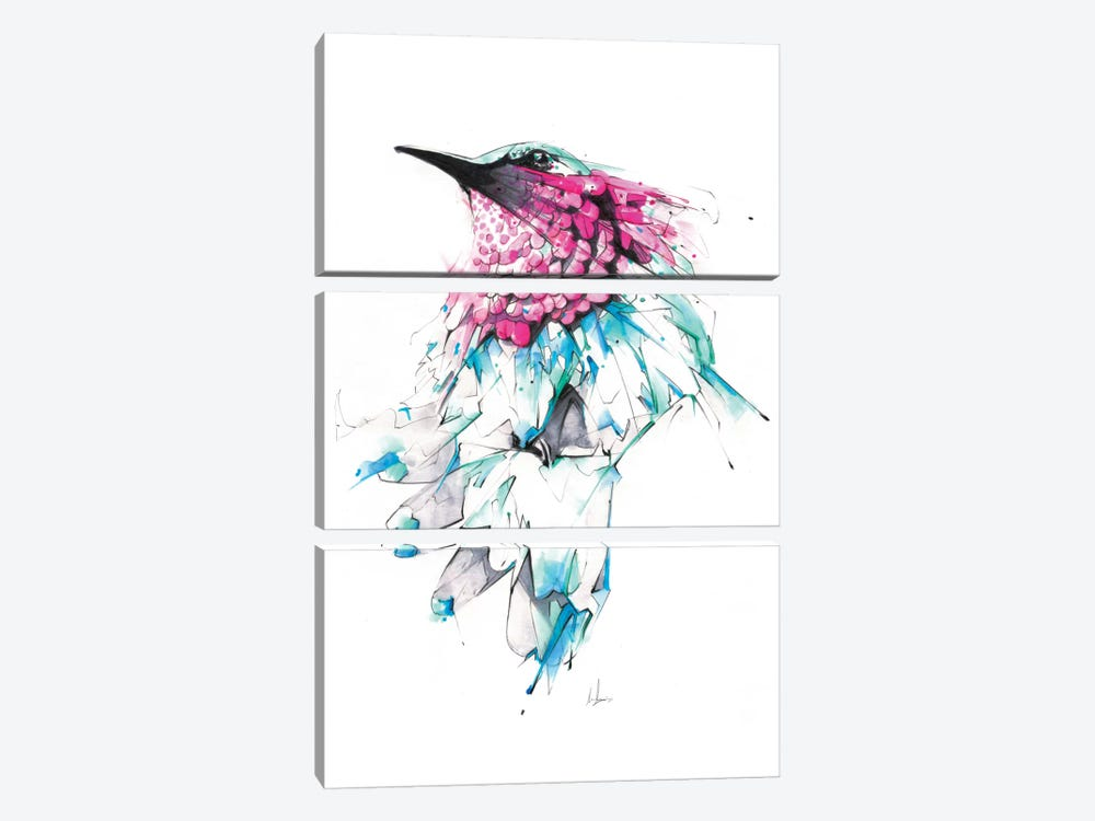 Hummingbird by Alexis Marcou 3-piece Canvas Print