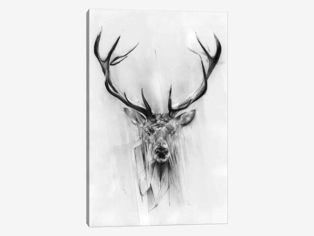 Red Deer by Alexis Marcou 1-piece Canvas Wall Art