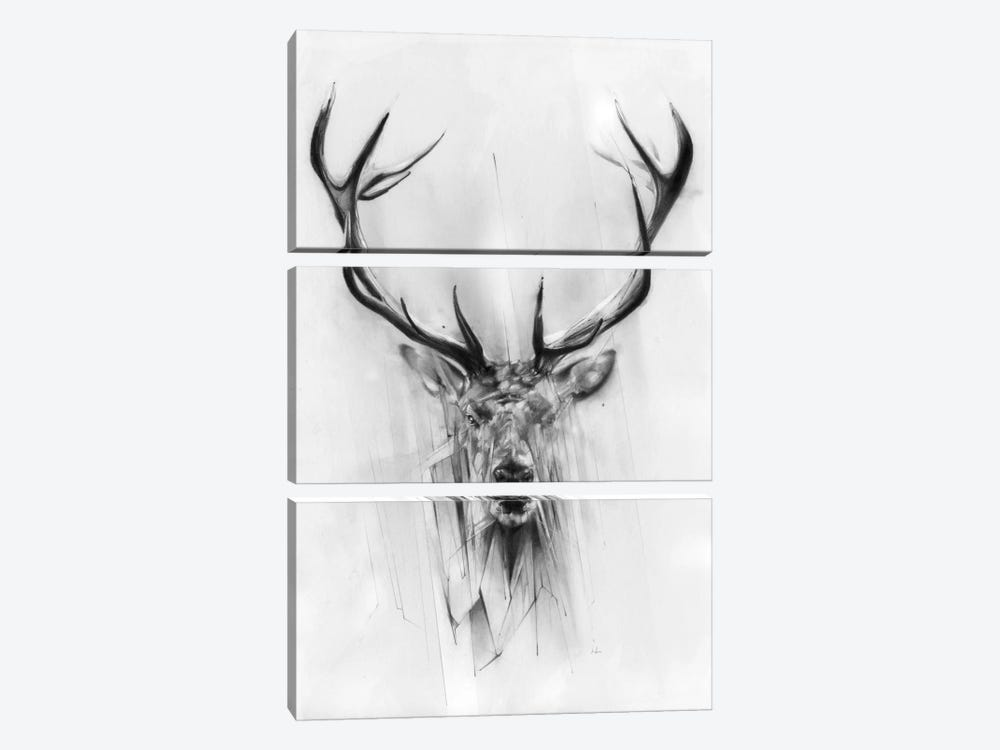 Red Deer by Alexis Marcou 3-piece Canvas Artwork