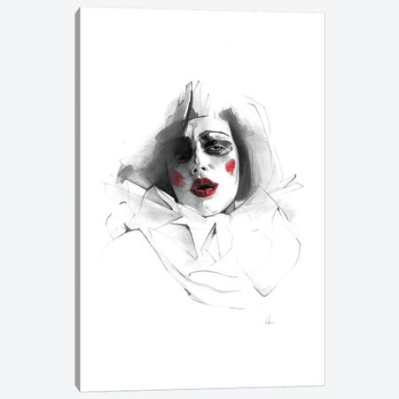 Red Lips Canvas Print #AMU25} by Alexis Marcou Canvas Wall Art