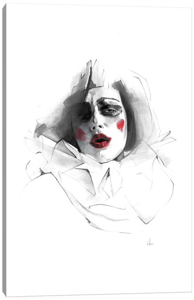 Red Lips Canvas Art Print