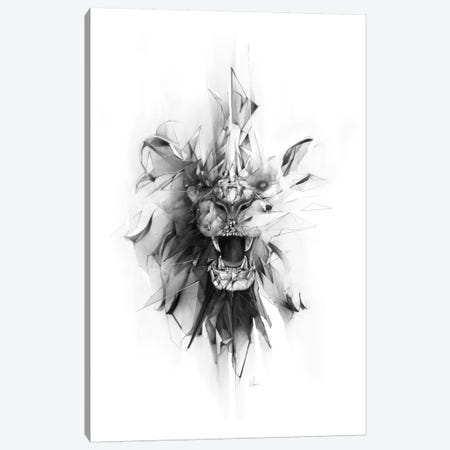 Stone Lion Canvas Print #AMU35} by Alexis Marcou Canvas Print