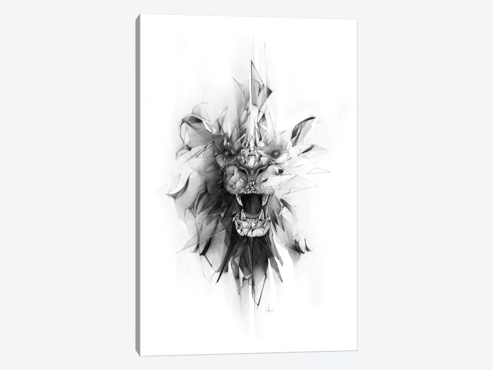 Stone Lion by Alexis Marcou 1-piece Canvas Wall Art