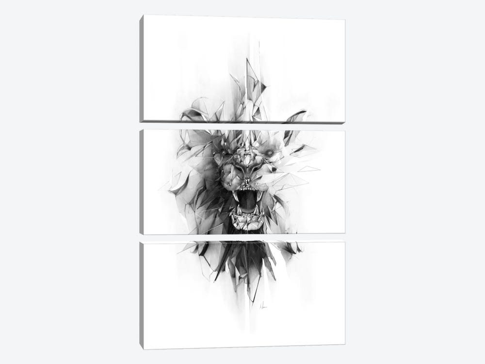 Stone Lion by Alexis Marcou 3-piece Canvas Artwork